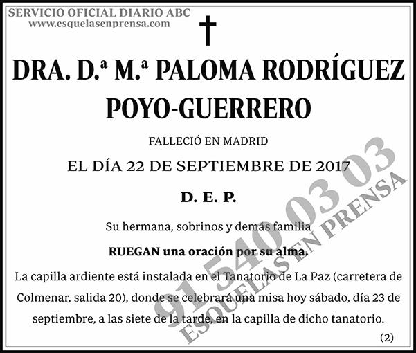 M.ª Paloma Rodríguez Poyo-Guerrero